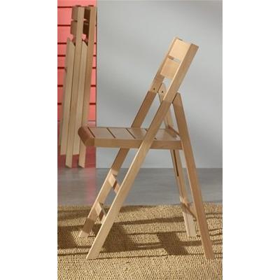 2 sedie pieghevoli richiudibili in legno di faggio for Sedie richiudibili