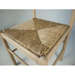 000365 Sedia MEZZANA in legno seduta in paglia