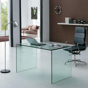 Scrivania in vetro OFFICE GLASSY 100X60X75