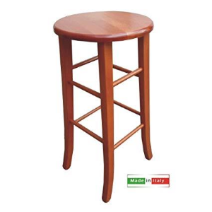 Wooden stool with seat MASSELLO H.70 CILIEGIO