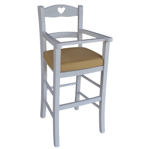BEIGE padded baby high chair with protection