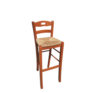 SNACK stool with straw seat height 80 cherry